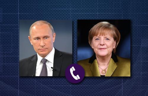 Путин и Меркель обсудили напряжённую ситуацию на юго-востоке Украины
