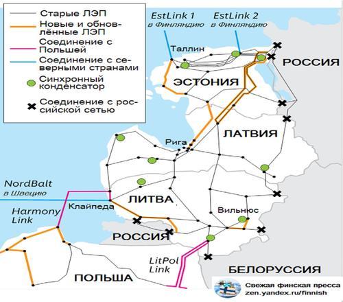 Прибалтика выходит из российской энергосети