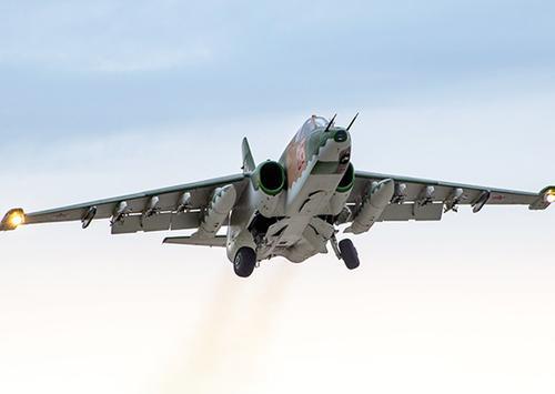 Штурмовики Су-25СМ3 ЮВО отработали поддержку наступления сухопутных сил  с воздуха