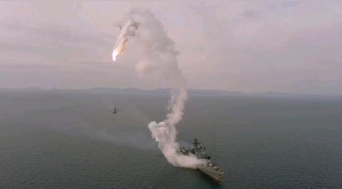Видео: Неудачный пуск крылатой ракеты «Калибр»