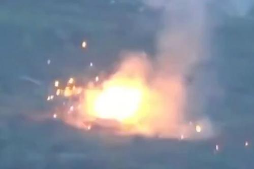 Видео: Российский ПТРК «Конкурс» сжёг американский танк M1 Abrams
