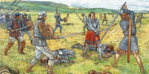 Битва при Флоддене, одно из крупных сражений 16 века между англичанами и шотландцами