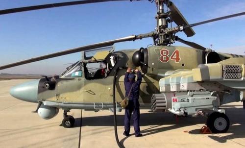 На полигоне Смолино прошла демонстрация нового вертолёта Ка-52М и нескольких самоходных артиллерийских систем