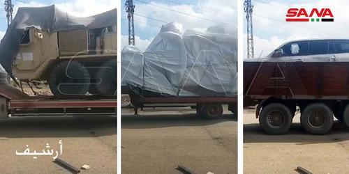 В Сирию вошла очередная колонна американских грузовиков под охраной бронетехники