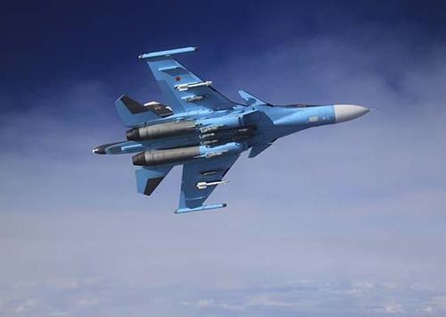Фронтовые бомбардировщики Су-34 отработали бомбометание на юге России