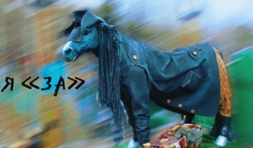 В Крыму обсуждают кого поддержал на выборах пришедший на участок «конь в пальто»