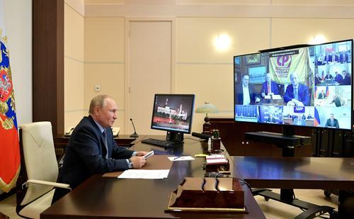 Опубликована видеозапись встречи Путина с руководителями парламентских партий