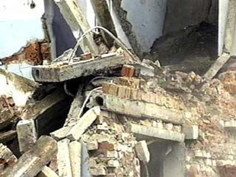 В Челябинске обрушилась стена строящегося здания