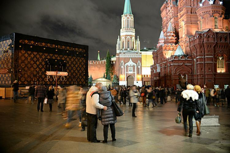 От чемодана на Красной площади остались одни скрепы