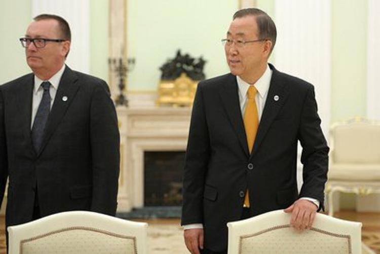 Генсек ООН озабочен ситуацией, касающейся Украины и России