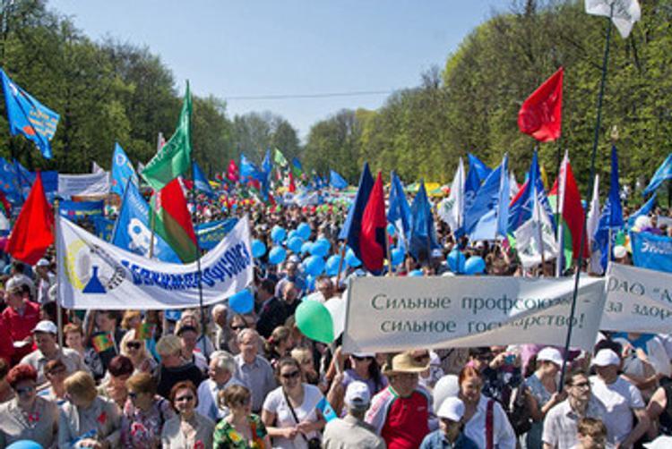 В Минске первомайские торжества возглавляют профсоюзы