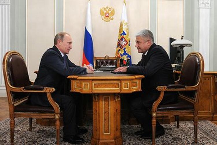 Путин поздравил Колокольцева с раскрытием громких дел
