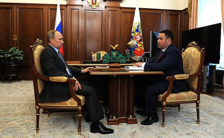 Президент РФ Владимир Путин встретился с главой тверского региона Игорем Руденей