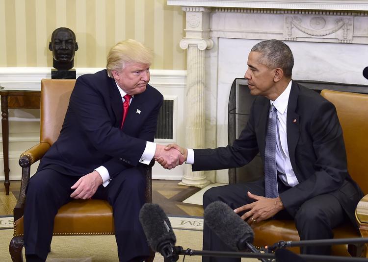 Чета Трамп прибыла в Белый дом на встречу с Бараком и Мишель Обамой