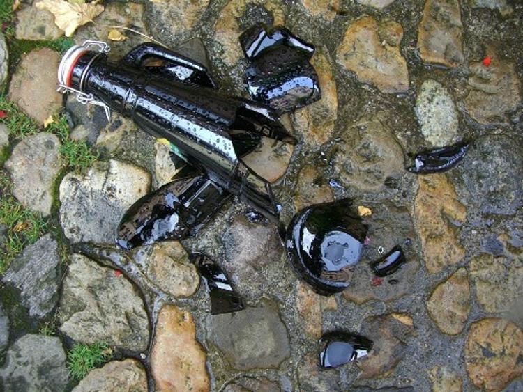 Преступник напал с осколком бутылки на патруль Росгвардии в Подмосковье