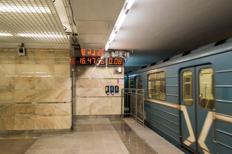 В Санкт-Петербурге сейчас частично закрыта синяя ветка метро