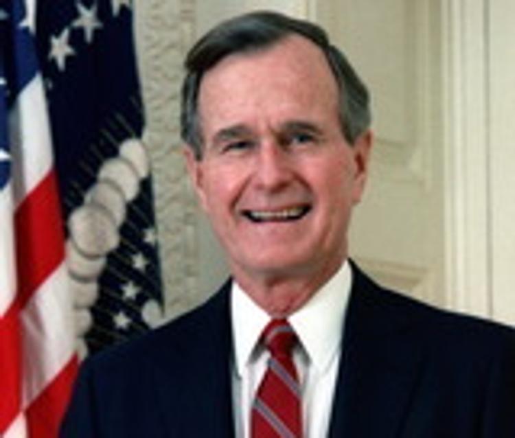 Билл Клинтон подарил носки Джорджу Бушу-старшему