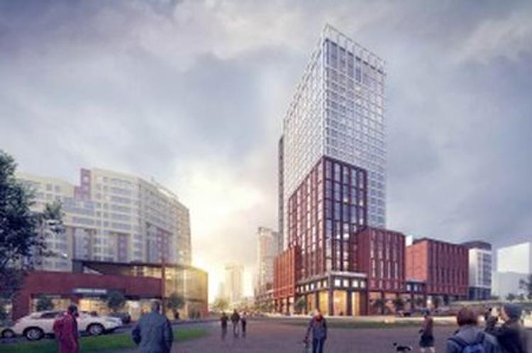 В Екатеринбурге построят 100-метровый стеклянный небоскреб