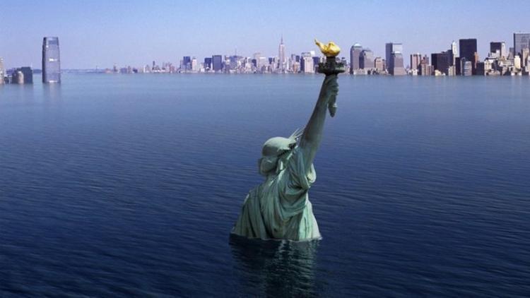 Ученые показали, как Нью-Йорк будет уходить под воду (ВИДЕО)