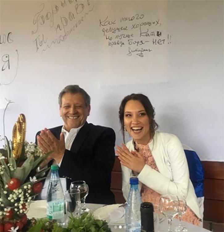 Борис Грачевский и Екатерина Белоцерковская сыграли свадьбу