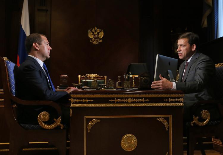 Евгений Куйвашев отчитался перед Дмитрием Медведевым