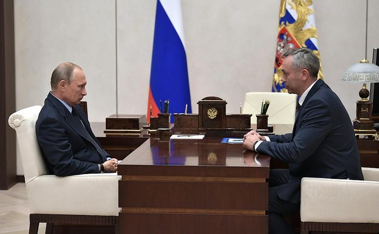 Путин назначил врио губернатора Новосибирской области Травникова