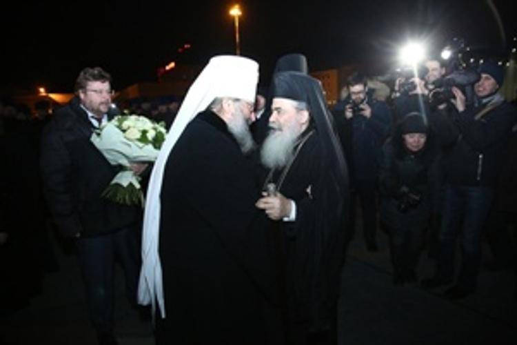 В Екатеринбург прилетел патриарх Иерусалима и Палестины Феофил III