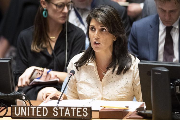Хейли покинула заседание СБ ООН в ходе выступления посла Палестины