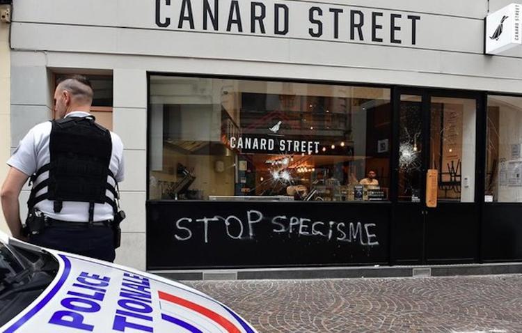 Агрессивные вегетарианцы одолели французских мясников
