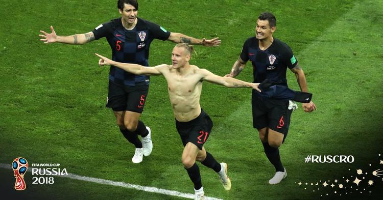 В дополнительное время  Домагой Вида вывел команду Хорватии вперед