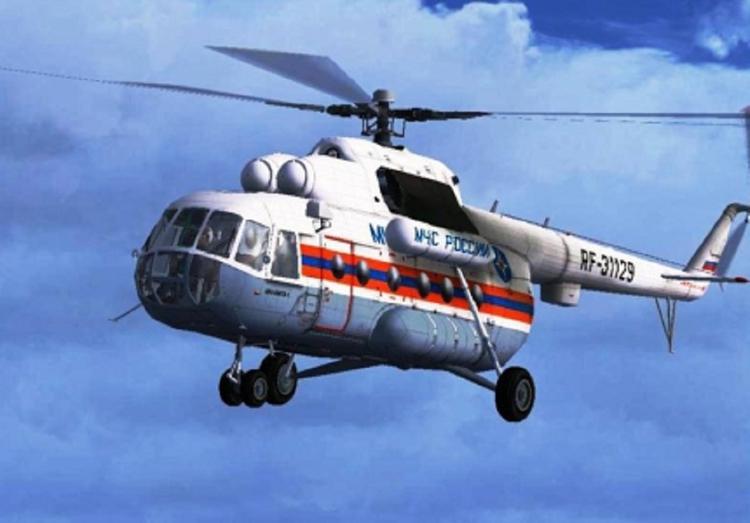 Возле разрушенного вертолета Ми-8 нашли тела трех человек