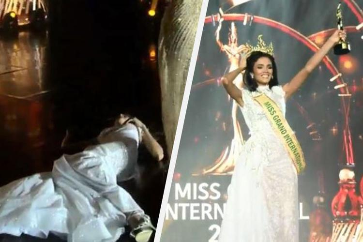 Победительница конкурса красоты упала в обморок от счастья, узнав о своей победе