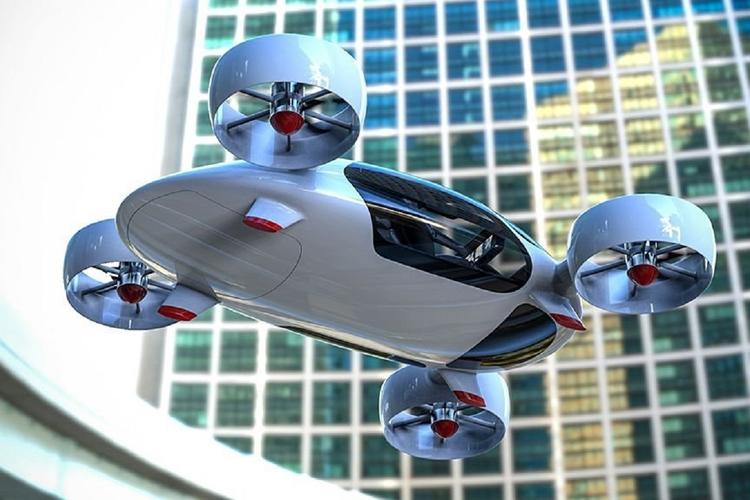 Прототип аэротакси на тест-драйве в «Сколково» упал в сугроб