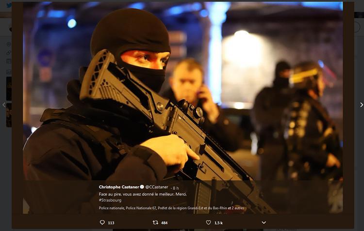 Глава МВД Франции поблагодарил полицию за уничтожение страсбургского террориста