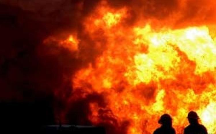Газопровод загорелся в Серпуховском районе Подмосковья