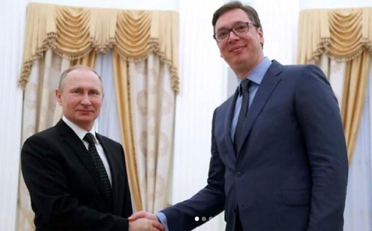 Путин наградил президента Сербии Вучича орденом Александра Невского