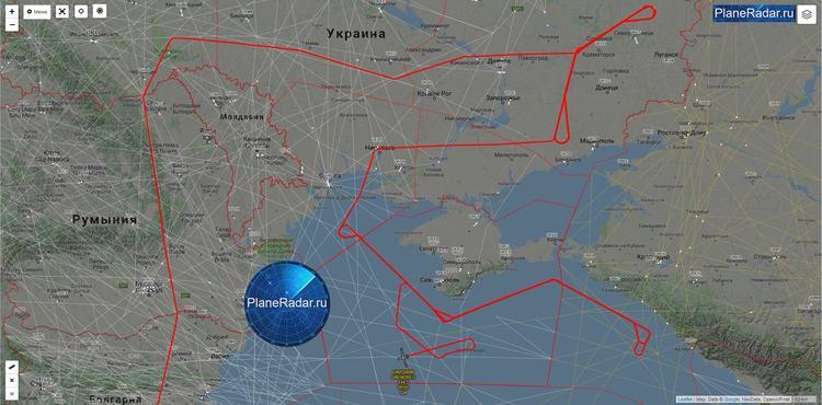 Беспилотник ВВС США зафиксирован во время разведывательного полета  у  Крыма