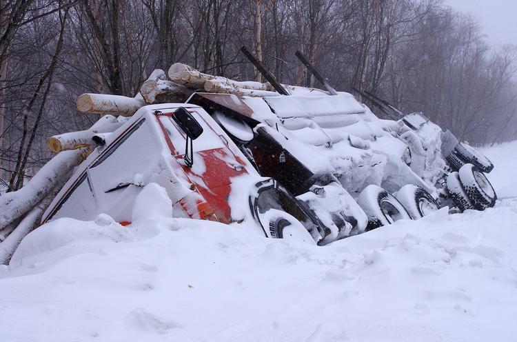 ДТП в Домодедово: столкнулись фура и грузовик