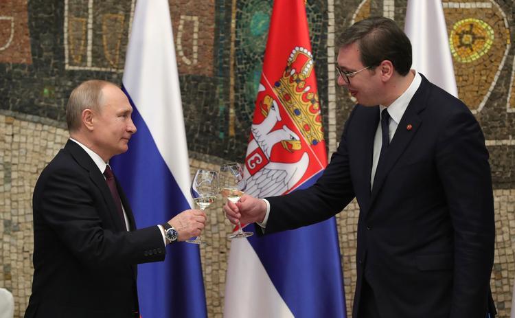 Путин обсудил с членами Совбеза итоги своего визита в Сербию