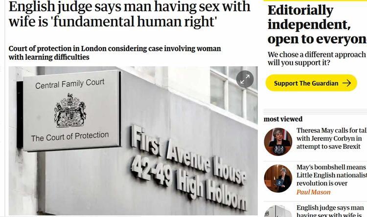 В Британии требуют запрета мужу заниматься сексом с женой