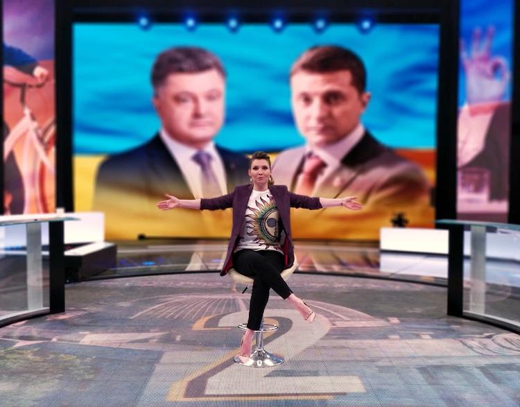 Телеведущая Ольга Скабеева готова  провести дебаты Порошенко и Зеленского
