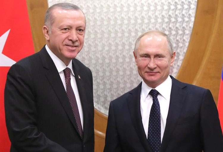 Переговоры Путина и Эрдогана начались в Кремле
