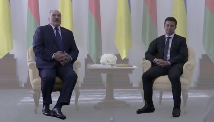 Зеленский заговорил с Лукашенко по-русски