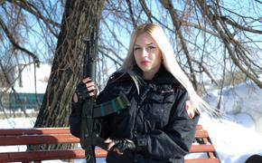 В фотоконкурсе «Краса Росгвардии» победила  прапорщик полиции Анна Храмцова