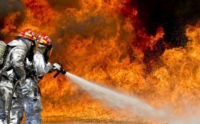 На строительном рынке в Подмосковье горят павильоны