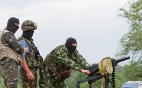 Уничтожение украинскими военными комбата ополчения сняли на видео с беспилотника