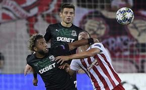 «Олимпиакос» уничтожил «Краснодар» в 1-м матче раунда плей-офф 4:0