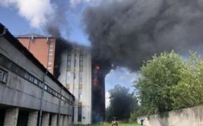 В Петербурге произошел крупный пожар