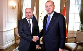 Путин назвал главные темы  переговоров с Эрдоганом