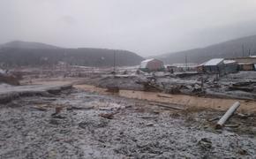 Опубликованы фотографии с места прорыва дамбы в Красноярском крае